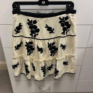 Anthropologie tiered skirt